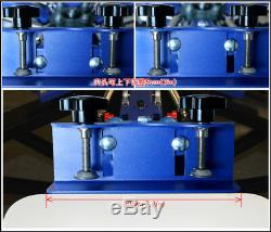 Techtongda 4 Color 4 Station Screen Printing Machine Press Silk Screen Printer