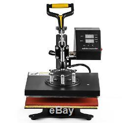 Teflon 12x10 Clamshell Heat Press Transfer Digital Sublimation Machine T-shirt