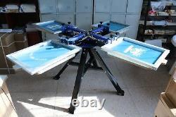 Top-grade Silk Screen Printing Press Machine Screen Printer T-Shirt DIY 4 Color