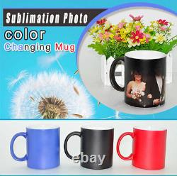 US 11OZ Blank Sublimation Color Changing Mugs Magic Cup Full Color Changing