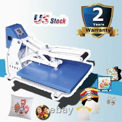 US 16x20 Clamshell T-shirt Auto Open Heat Press Machine Horizontal Version CE