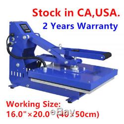 USA Stock! 110V 1600W 16 x 20 Auto Open Heat Press Machine Horizontal Version