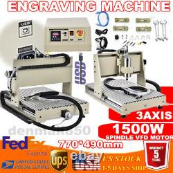 USB 3axis 1.5KW CNC 6040 Router Engraver 3D Cutting Milling Machine BallScrew CE