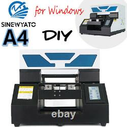UV Printer A4 Flatbed DTG Cylindrical 3D Signs Glass Metal 3D Rotation Embossed