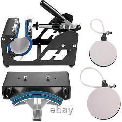 VEVOR 15x15 5IN1 Combo T-Shirt Heat Press Transfer Mug Plate Printing Pressing