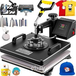VEVOR 8IN1 Combo T-Shirt Heat Press Transfer 15x15 1100W Swing Away Sublimation