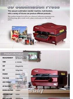VMA 3D Vacuum Sublimation Tumbler Mug Heat Press Machine Kit Multi-Functional