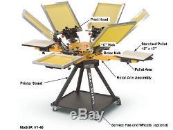 Vastex V-1000 Screen Printing Press 4 Station/6 Color