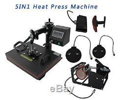 Vinyl Cutter 5in1 Heat Press Printer Vinyl T-shirt Transfer Start-up Kit