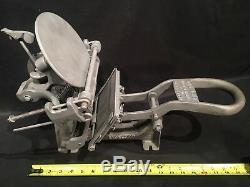 Vtg Kelsey Co Excelsior Mercury Model N 3x5 Letterpress Printing Press Steampunk